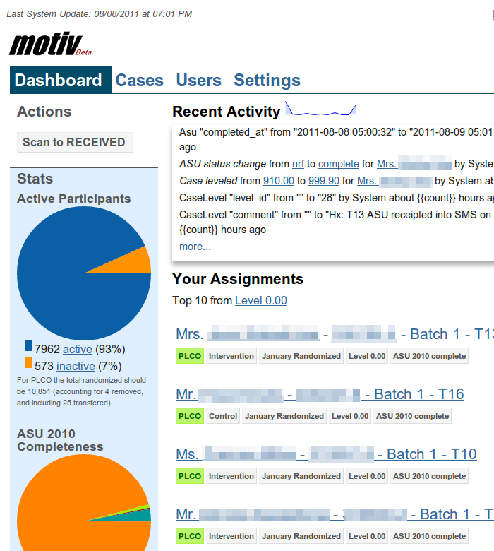 Screenshot of Motiv